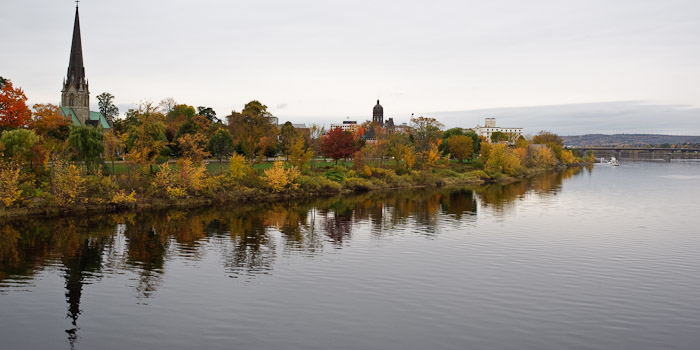 Downtown Fredericton from the Walking Bridge